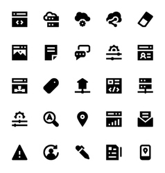 Web Design and Development Icons 3 vector image