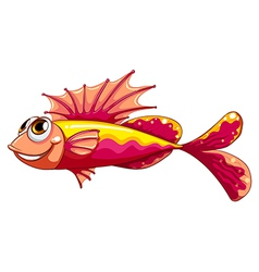 A colorful fish smiling vector image vector image