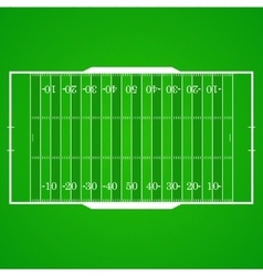 American football realistic textured field vector image
