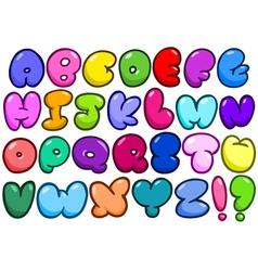 comic bubble alphabet vector image vector image