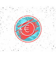 euro money exchange line icon banking currency vector image