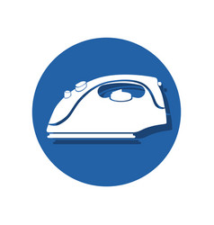 iron laundry appliance icon vector image