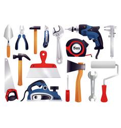 repair renovation carpentry tools set vector image vector image