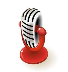 Retro microphone vector image
