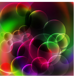 abstract green and violet bubbles background vector image