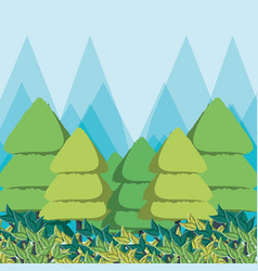 eco style life green forest vector image