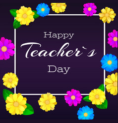 Happy teacher day greeting banner for your vector