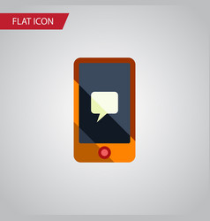 isolated message flat icon chatting vector image vector image
