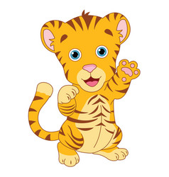 of cartoon tiger vector image