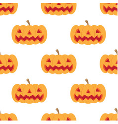 seamless halloween pattern with set of scary vector image vector image