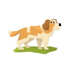 St Bernard Rescue Dog vector image vector image
