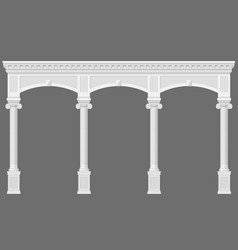 antique white arcade vector image