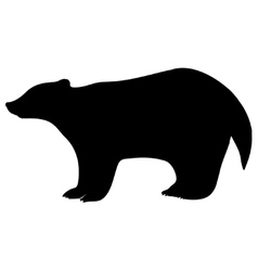badger silhouette vector image