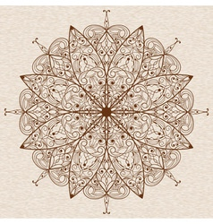 Circle Abstract Ethnic Floral Design Element vector image