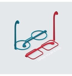 modern glasses icon set on white vector image