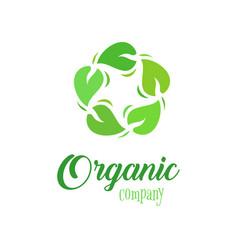 organic logo template farmer products company vector image