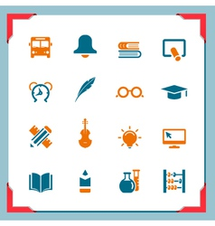 School icons 2 in a frame series vector image vector image