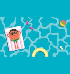 summer pool man vector image
