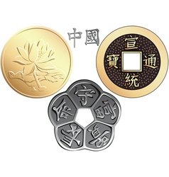 chinese coin vector image