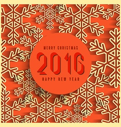 Merry christmas 2016 happy new year text winter vector image