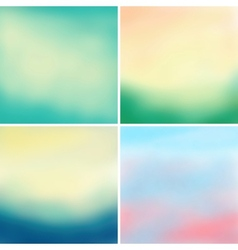 Abstract colorful blurred backgrounds set 3 vector