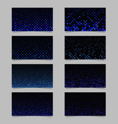 abstract dot pattern card background template set vector image