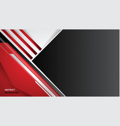 Abstract red black and white sport design vector