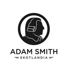 Adam smith head logo vector