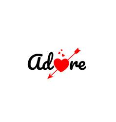 Adore word text typography design logo icon vector