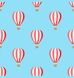 Air balloon with clouds pattern vector