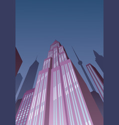 art deco tower 2 vector image