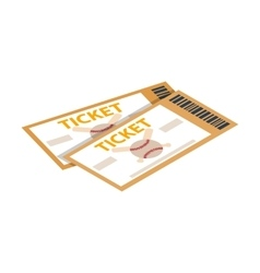 Baseball tickets isometric 3d icon vector image