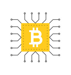 bitcoin icon cryptocurrency concept flat design vector image