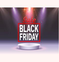 black friday big sale seasonal banner sales vector image