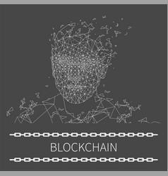 blockchain technologies artificial poster vector image