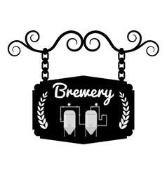 brewery signboard pub hanging vintage design vector image