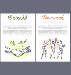 business and teamwork posters vector image