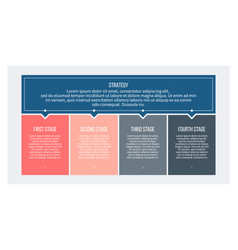 Business infographics with 4 steps options vector