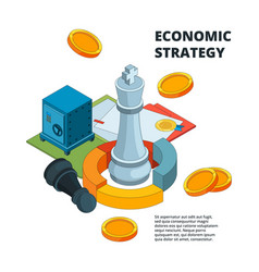 business strategy concept corporate success vector image