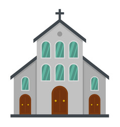 Catholic church icon flat style vector