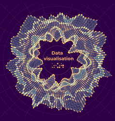 complex data visualization concept vector image