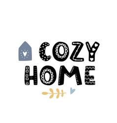 Cozy home simple flat bold cute vector