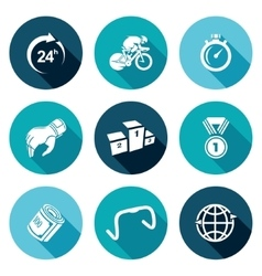 Cycling Icons Set vector