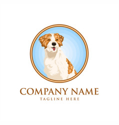 dog realistic design vector image