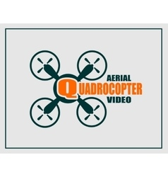 Drone icon Quadrocopter aerial video text vector image vector image