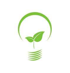 eco-friendly leaf bulb vector image