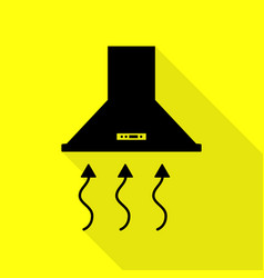 Exhaust hood range hood kitchen ventilation sign vector
