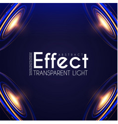futuristic light effcet illuminated scene vector image