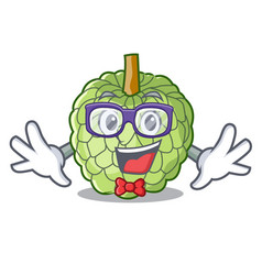 Geek character custard apple tropical fruit vector