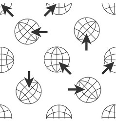 go to web icon seamless pattern globe and cursor vector image